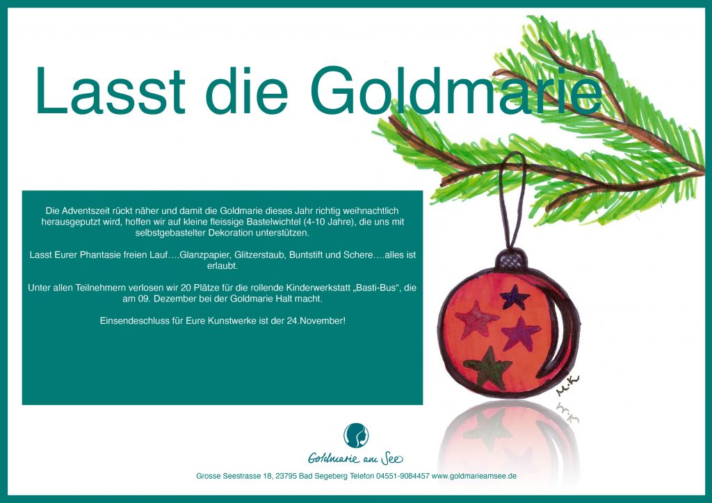 Basteln zur Adventszeit mit dem Bastibus in der Goldmarie am See