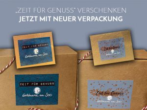 Neue Geschenkverpackung – Zeit für Genuss