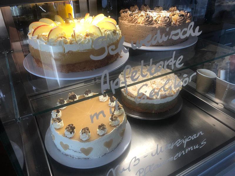 Kuchen und Torten in der Goldmarie am See