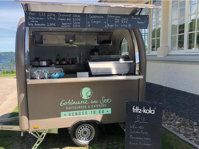"""Verkauf vom Anhänger der Goldmarie am See """"Genuss to go"""" - Café Goldmarie am See"""