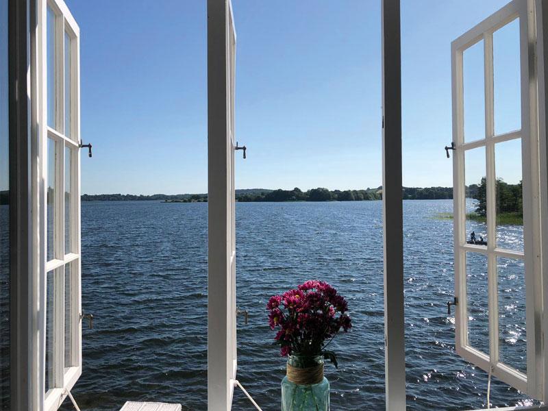 Blick auf den Segeberger See - Café Goldmarie am See
